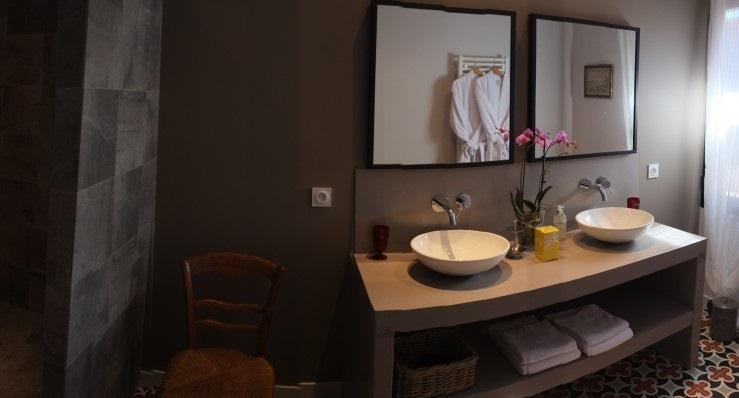 salle d'eau Olivière - Clos des Aspres Chambre d'hôtes proche de Collioure