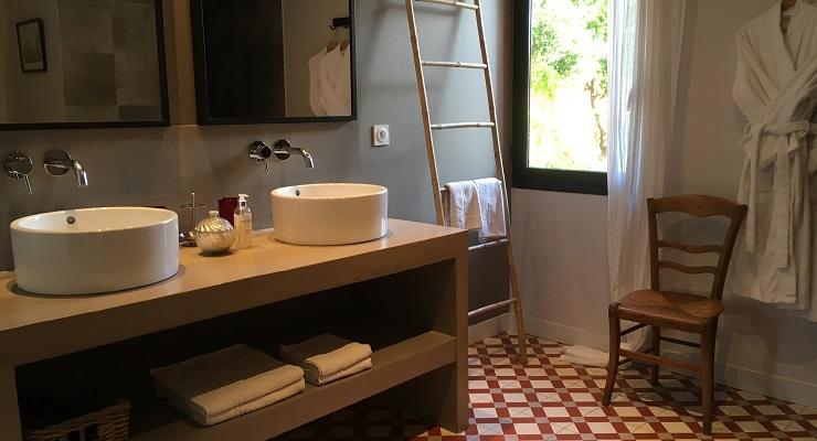 Salle d'eau Clos des Aspres - Chambre d'hôtes de charme proche de Collioure